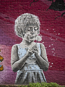 Mural Photos - The Dandelion by Chris Dutton