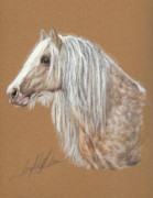 Horse Pastels Originals - The Dappled Gypsy Romeo by Terry Kirkland Cook