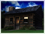 Hunt Mixed Media Metal Prints - The Dark Cabin Metal Print by Lj Lambert