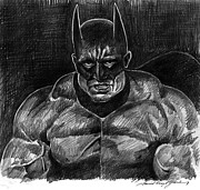 Heroes Drawings - The Dark Knight - Batman by David Lloyd Glover