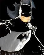 Comic Books Paintings - The Dark Knight by Al  Molina
