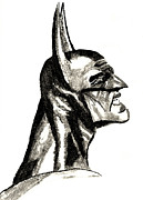 Dc Comics Drawings - The Dark Knight by Ronnie Black
