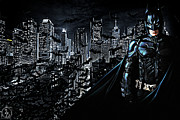 Christian Bale Posters - The Dark Knight Poster by The DigArtisT