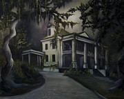 Haunted House Painting Framed Prints - The Dark Plantation Framed Print by James Christopher Hill