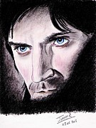 Pencils Prints - the dark side of Guy of Gisborne Print by Joane Severin