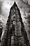 Gothic Dark Church Framed Prints - The Dark Tower Framed Print by Edward Myers
