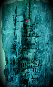 Wicca Paintings - The Dark Tower by Joe  Gilronan