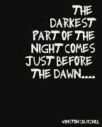 Positive Attitude Digital Art Metal Prints - The Darkest Part of the Night Metal Print by Nomad Art And  Design