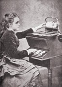 Typewriters Photos - The Daughter Of Inventor Christopher by Everett