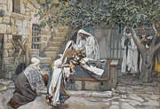 Savior Painting Framed Prints - The Daughter of Jairus Framed Print by Tissot