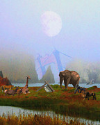 Surrealism Digital Art Metal Prints - The Day After Armageddon At The San Francisco Zoo Metal Print by Wingsdomain Art and Photography
