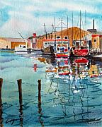 Harbor Drawings - The Day After Christmas by Chris Coyne