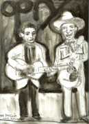 Grand Ole Opry Art - The Day Cash Wore White by Robert Wolverton Jr