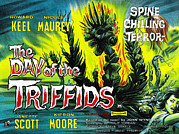 Horror Movies Framed Prints - The Day Of The Triffids, British Poster Framed Print by Everett