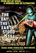 Classic Sf Posters Framed Prints - The Day The Earth Stood Still, 1951 Framed Print by Everett