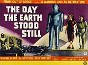 1950s Poster Art Framed Prints - The Day The Earth Stood Still, Lock Framed Print by Everett