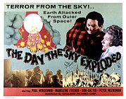 Lobbycard Framed Prints - The Day The Sky Exploded, Massimo Framed Print by Everett