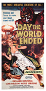 1956 Movies Posters - The Day The World Ended, Richard Poster by Everett
