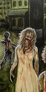 Walking Dead Paintings - The Dead Invade Emerald City 2 by Al  Molina