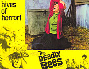 Horror Movies Framed Prints - The Deadly Bees, Catherine Finn, 1967 Framed Print by Everett