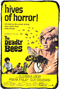 Horror Movies Framed Prints - The Deadly Bees, From Left Katy Wild Framed Print by Everett