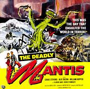 The Deadly Mantis, 6-sheet Poster Art Print by Everett
