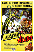 1950s Movies Art - The Deadly Mantis, Aka El Monstruo by Everett