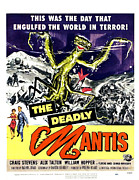 1950s Movies Framed Prints - The Deadly Mantis, Bottom From Left Framed Print by Everett