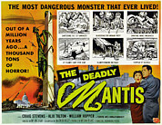 1957 Movies Prints - The Deadly Mantis, Bottom Right Print by Everett
