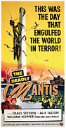 1957 Movies Framed Prints - The Deadly Mantis, Craig Stevens, Alix Framed Print by Everett