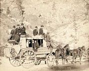 Deadwood Framed Prints - The Deadwood Stagecoach Fully Loaded Framed Print by Everett
