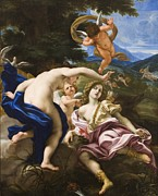 Aphrodite Paintings - The Death of Adonis by Il Baciccio