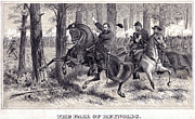 Reynolds Prints - The Death of General Reynolds at Gettysburg by Alfred Rudolph Waud  Print by Don Struke