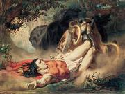 Martyr Painting Posters - The Death of Hippolyte Poster by Sir Lawrence Alma-Tadema
