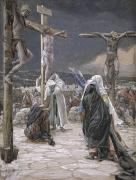 Gouache Painting Framed Prints - The Death of Jesus Framed Print by Tissot