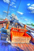 Village By The Sea Digital Art Prints - The Deck Print by Barry R Jones Jr