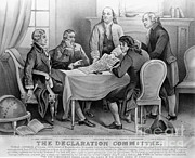 Benjamin Franklin Prints - The Declaration Of Independence Print by Photo Researchers