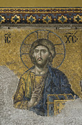 Byzantine Photos - The Dees mosaic in Hagia Sophia by Ayhan Altun