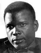 The Defiant Ones, Sidney Poitier, 1958 Print by Everett