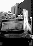 Movie Theater Prints - The Delft Marquette MI Print by Michelle Calkins