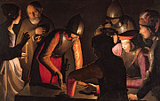 Betrayal Prints - The Denial of Saint Peter Print by Georges De La Tour