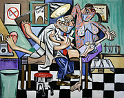 Canvas  Mixed Media - The Dentist Is In by Anthony Falbo