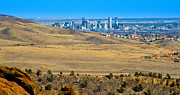 Red Rock Photos - The Denver Skyline by David Patterson