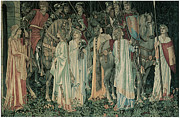 Knights Paintings - The Departure of the Knights by Edward Burne-Jones