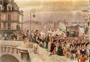 Parade Painting Posters - The Departure of the Volunteers 1792 Poster by Jean Baptiste Edouard Detaille