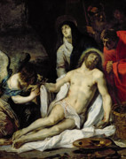 Worship God Paintings - The Deposition by Pieter van Mol
