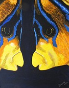 Angelfish Paintings - The Depth of Love by Denise Hills