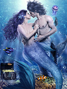 Mermaids Digital Art - The Depths of Love by Jessica Allain