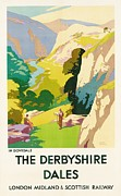 Advertisement Painting Prints - The Derbyshire Dales Print by Frank Sherwin