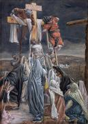 Religious Painting Framed Prints - The Descent from the Cross Framed Print by Tissot